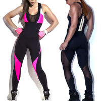 Women Yoga Suit Sport Gym Running Sport Wear Fitness Clothing Workout Jumpsuit A