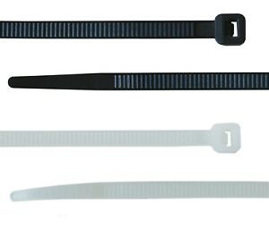 Cable Ties Tie Wraps Nylon Zip Ties Strong Extra Long All Sizes Black Natural