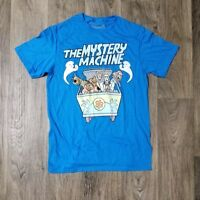 Mens Scooby-Doo and The Mystery Machine Blue Green White T-Shirt Size M
