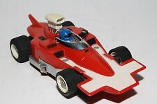 Aurora G - Plus Slot Car, Red and White F-1 Race Car