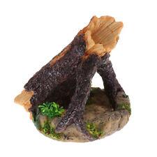 Tarantula,Reptile,Snake, Lizard Vivarium Resin Water Food Hollow Log Bowl