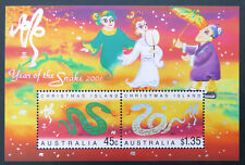 2001 Christmas Island Stamps - Lunar New Year-Year of Snake Mini Sheet MNH