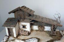 Krippenbausatz/ Krippe Bergbach 10cm/ Bausatz zum Krippe selber bauen/ ohne Deko