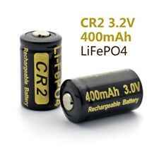2 Soshine LiFePO4 15266 15270 CR2 3.2V 400mAh 3.0V rechargeable protected CELL