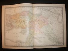 1886 Turkey in Asia Alden's Atlas Map 14 inch x 23 inch Color M46