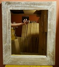 Distressed Wood Rustic Wall Decor- Mirror Rustic Country Farmhouse Home Wall Dec