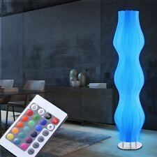 Design LED RGB Stehleuchte Wohnzimmer Farbwechsler Fernbedienung 14 Watt H 130cm