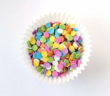 Sprinkles - Edible Confetti, Sequins, Pastel Colors, 8 oz. candy Cake Decorating