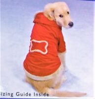 Super Warm Red Double Layer Velour Hooded Dog Coat Jacket XS XL L Casual Canine