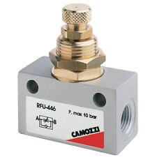 Válvula de aguja de control de flujo Uni Direccional 1/4 BSPP Aire Neumático