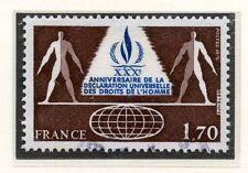 TIMBRE FRANCE OBLITERE N° 2027 DROITS DE L'HOMME / Photo non contractuelle