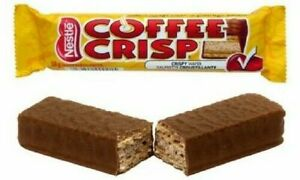 Coffee Crisp Chocolate Bars 12 Full Size 50g (3x4) Candy Canadian Chocolate