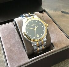 Authentic Gucci 9040M Two-Tone Stainless Steel Quartz Watch w/Diamond Markers