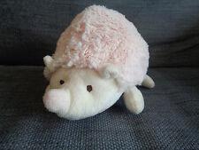 "Jellycat Light Pink Hedgehog rattle soft plush christening toy 8"" long 5"" high"