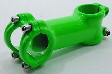 """Promax X4 Handlebar Alloy Riser Stem 90mm 31.8mm 1-1/8"""" 6 Deg, Fluorescent Green"""