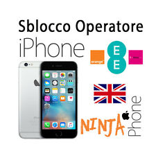 SERVICE SBLOCCO OPERATORE UNLOCK IPHONE SEVEN SETTE ORANGE T-MOBILE EE UK