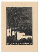 FRANTISEK KOBLIHA: Exlibris für Remy Neubauer, 1918