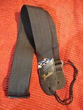 Genuine Fender guitar strap with pickholder pocket& 2 picks. New. Free shipping!