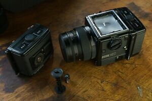 Bronica GS-1 with 100mm F/3.5 Zenzanon PG Lens and TWO Film Backs-Works Great!