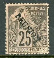 French Colony 1891 Reunion 25¢ Overprint  SG # 24A Mint  R886