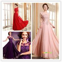 Longue robe de bal robe de soirée de robe de mariage de demoiselle d'honneur-G