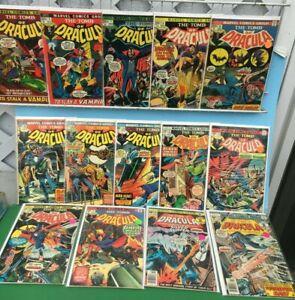1975Marvel TOMB Of DRACULA (14) Comic LOT-3,5,7,14,15,16,18,20,33,35,36,37,50,57