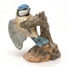 Mack Bone China England Bird Figurine, Blue Tit by J.Mack