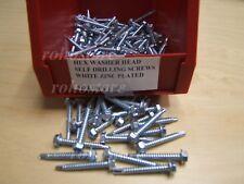 800 Pcs Hex Washer Head Self Drilling # 8 x 1-1/4 Tek Screw
