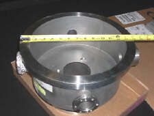 """MDC Bell Jar Base Well Stainless Steel 14""""ODx11-58""""IDx5"""" Deep with CF Side Ports"""