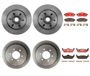 Brembo Front Rear Full Brake Kit Ceramic Pads Disc Rotors For Ford F-150 Mark LT