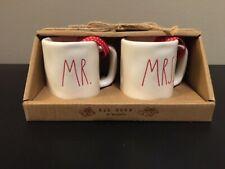 Rae Dunn MR & MRS Mini Mug Set Christmas Ornaments 2019 NEW