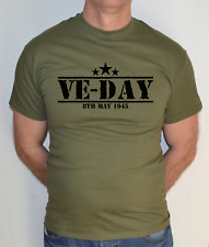 VE-DAY, 8th MAY 1945,ARMY,VICTORY IN EUROPE, WW2,MILITARY GREEN, T SHIRT