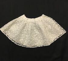 Matalan Baby Girls White Flowers Skirt Size 12-18 Months