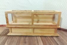 Dollhouse Miniature Display Counter for Bakery Store or Shop 1:12 Scale Oak