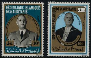 Mauritania 289-90 MNH Charles De Gaulle