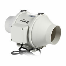 "4"" 100P 110V InLine Duct Fan Hydroponic Bathroom Extractor Booster Blower 116CFM"