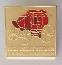 High Desert Museum Bend Oregon Horse Wagon Pin Badge Vintage Rare (N6)