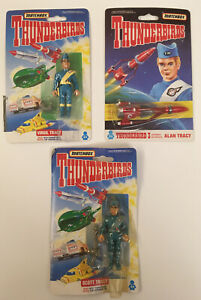 Thunderbirds Figures & Die-Cast T-bird 3. Lot of 3 Toys. (1992 - Matchbox) new