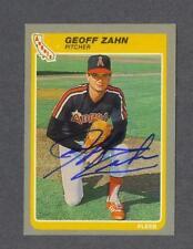 Geoff Zahn signed California Angels 1985 Fleer baseball card