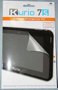 3-Pack Screen Protector Shield Kit For Kurio 7S Tablet + Cloth, Applicator Tool