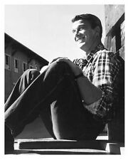 LESLIE NIELSEN young casual on set still - (A119)