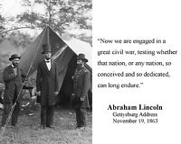 President Abraham Lincoln Gettysburg Address Quote 8 x 10 Photo Picture #w2