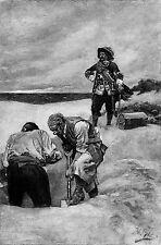 Capitán Kidd en Gardiner de la isla, Howard Pyle 9x6 Pulgadas Repro Pirata Art Print