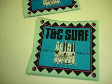 Vintage 80 St C Surf Designs Embroidered Patch 4 SQ NOS