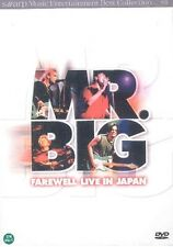 MR. BIG DVD - Farewell Live In Japan (New & Sealed)