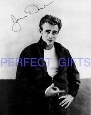 JAMES DEAN REBEL WITHOUT A CAUSE CIRCA SIGNED 10X8 PP REPRO PHOTO