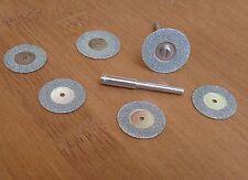 6pc Mini Diamante Taglio Disco Set Utensile Rotante Tagliare Il Vetro Pietra in metallo modello Drill