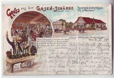 Litho Gruss  Gosen Schänke Eutritzsch 1898 Leipzig