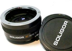 Soligor 2X Teleconverter lens Tele-plus for Olympus OM mount manual focus