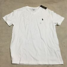 Polo Ralph Lauren Mens Classic Fit V-Neck Short Sleeve T-Shirt white small